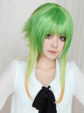פאות קוספליי Vocaloid Gumi ירוק בינוני אנימה / משחקי וידאו פאות קוספליי 45 CM סיבים עמידים לחום נקבה