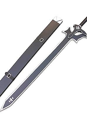 Espada de Cosplay Negra Kirito Elucidator con Funda