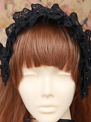 תכשיטים לוליטה גותי לבוש ראש לוליטה Black לוליטה אביזרים אביזר לשיער אחיד ל גברים / נשים כותנה