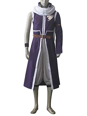Inspirado por Fairy Tail Natsu Dragneel Anime Fantasias de Cosplay Ternos de Cosplay Patchwork Branco / PúrpuraCasaco / Calças / Cachecol