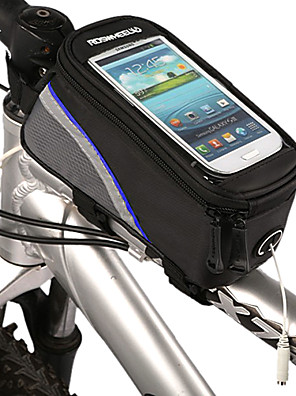 ROSWHEEL® Bolsa de BicicletaBolsa para Quadro de Bicicleta / Bolsa Celular Á Prova-de-Água / Lista Reflectora Bolsa de BicicletaPoliéster