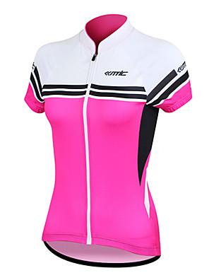 SANTIC® חולצת ג'רסי לרכיבה לנשים שרוול קצר אופנייםנושם / ייבוש מהיר / עיצוב אנטומי / עמיד אולטרה סגול / רוכסן קדמי / לביש / חדירות גבוהה