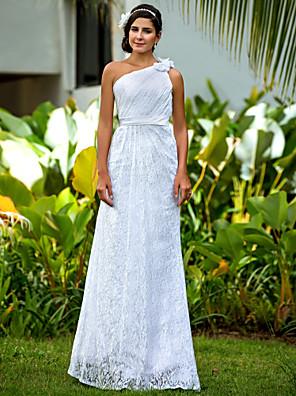 Lanting Bride® Tubinho Pequeno / Tamanhos Grandes Vestido de Noiva - Clássico e atemporal / Glamouroso e Dramático Longo Mula Manca Renda