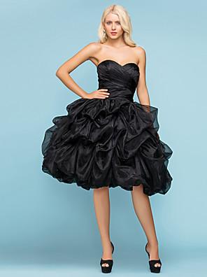 Lanting menyasszony labda ruha vékony / plusz méretben esküvői ruha-térdig érő édesem organza