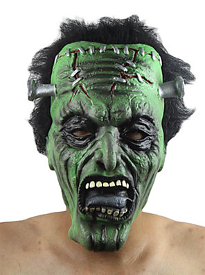 Máscara Monstros Festival/Celebração Trajes da Noite das Bruxas Verde Cor Única Máscara Dia Das Bruxas Unisexo Látex