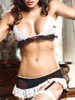 Mistress French Maid Sexy Uniform(3 Pieces)