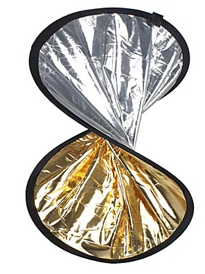 """24 """"2 in1 sølv gylden skive sammenklappelig Reflektor 60cm"""