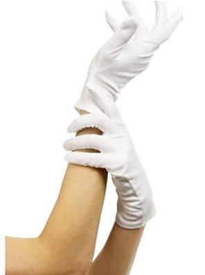 Handschoenen Cosplay Festival/Feestdagen Halloween Kostuums Wit Effen Handschoenen Halloween / Carnaval Vrouwelijk Textiel Binnenwerk