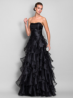 TS Couture® Prom / Formal Evening / Military Ball Dress - Vintage Inspired Plus Size / Petite A-line Sweetheart Floor-length Organza with Ruching