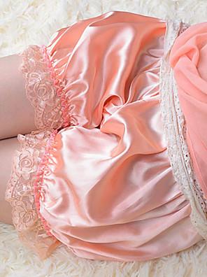 Kalhoty Sweet Lolita Princeznovské Cosplay Lolita šaty Růžová Jednobarevné Lolita Lolita Kalhoty Pro Dámské Satén