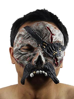 Maska Pirát Festival/Svátek Halloweenské kostýmy Černá Tisk Maska Halloween Unisex Latex