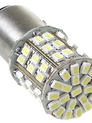 1157/BAY15D 2057 64 1206 SMD LED bil Tail Brake Stop Drej Light Bulb Lamp White