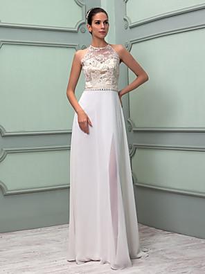 lanting 신부 시스 / 아담 열 / 플러스 웨딩 드레스 층 길이 높은 목 쉬폰 / 레이스 크기