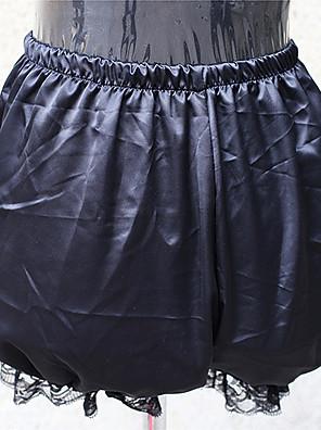 Kalhoty Klasická a tradiční lolita Lolita Cosplay Lolita šaty Černá Jednobarevné Lolita Lolita Šaty Pro Dámské Satén / Krajka
