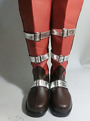 Cosplay boty Final Fantasy Lightning Anime Cosplay obuv Czarny / Czerwony PU kůže Dámský