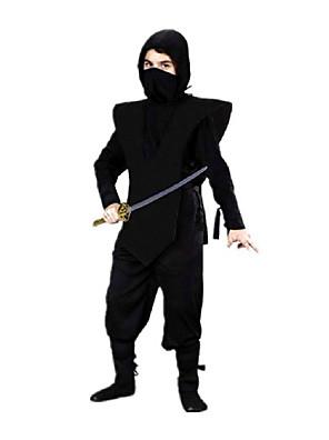 Cosplay Kostýmy / Kostým na Večírek Ninja Festival/Svátek Halloweenské kostýmy Černá Jednobarevné Vesta / Kalhoty / KapuceHalloween /