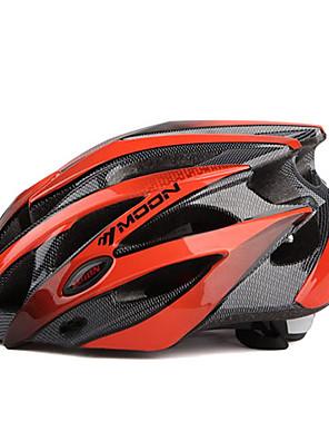 Capacete (Vermelho / Preto , PC / EPS) - Montanha / Estrada / Half Shell - Mulheres / Homens 25 AberturasCiclismo / Ciclismo de