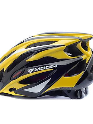 Capacete (Amarelo / Preto , PC / EPS) - Montanha / Estrada / Half Shell - Mulheres / Homens 25 AberturasCiclismo / Ciclismo de Montanha