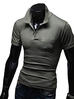 ריצה חולצת POLO לגברים שרוול קצר כותנה כושר גופני / ספורט פנאי בגדי ספורט בגדי שטח / ספורט פנאיצהוב / לבן / אדום / אפור / שחור / כחול /