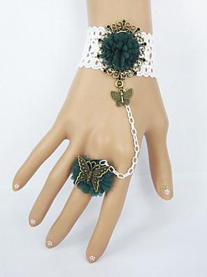 תכשיטים לוליטה מתוקה צמיד לוליטה לבן / ירוק כהה לוליטה אביזרים צמיד / טבעת תחרה ל נשים תחרה / בד לא ארוג / סגסוגת
