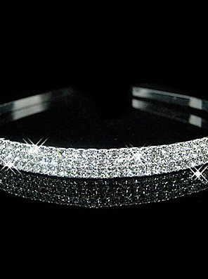 Women's / Flower Girl's Rhinestone Headpiece-Wedding Headbands Silver Round