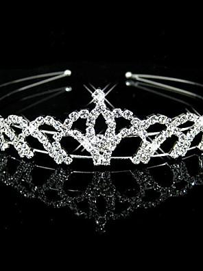 Women's / Flower Girl's Rhinestone Headpiece-Wedding Headbands Clear Round