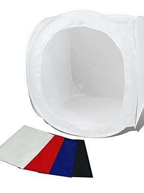 80 * 80cm fotostudio softbox schieten kubustent softbox foto lichte tent draagbare tas 4 achtergronden