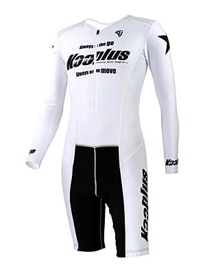 KOOPLUS® חליפת טריאתלון לנשים / לגברים / יוניסקס שרוול ארוך אופניים נושם / ייבוש מהיר / חדירות ללחות / לביש סרבל / מדים בסטים פוליאסטר