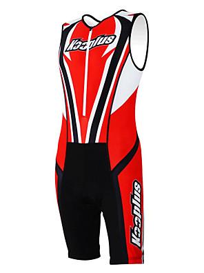KOOPLUS® חליפת טריאתלון לנשים / לגברים / יוניסקס בלי שרוולים אופניים נושם / ייבוש מהיר / חדירות ללחות / לביש / 3D לוח סרבל / מדים בסטים