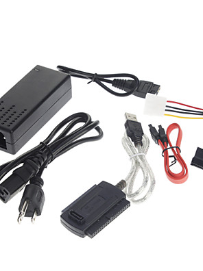 USB 2.0 para IDE SATA S-ATA 2.5 3.5 HD HDD Adapter Cable (5 unidades)
