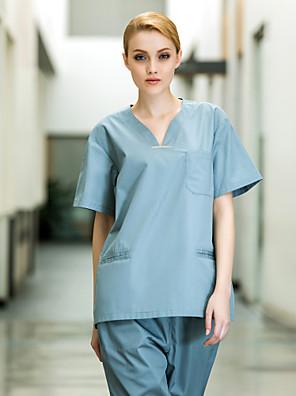 medische uniformen vrouwen zes zakken v-hals scrub set
