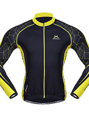MYSENLAN® Cykeltrøje Herre Langt Ærme Cykel Åndbart / Hold Varm / Hurtigtørrende / Vindtæt / Påførelig Trøje / ToppeSpandex / 100%