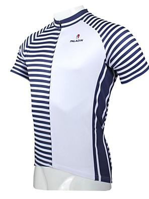 PALADIN® חולצת ג'רסי לרכיבה לגברים שרוול קצר אופניים נושם / ייבוש מהיר / עמיד אולטרה סגול ג'רזי / צמרות 100% פוליאסטר טלאים / Raitaאביב /