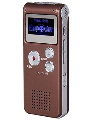 Nyeste 8G MP3 Digital Voice Recorder (kaffe)