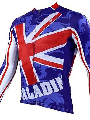 PALADIN® חולצת ג'רסי לרכיבה לגברים שרוול ארוך אופניים נושם / שמור על חום הגוף / ייבוש מהיר / עמיד אולטרה סגול ג'רזי / צמרות 100% פוליאסטר