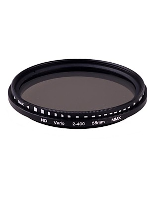 55 mm Pro Slim Fader Variabilní Neutral Density ND filtr nastavitelný od ND2 do ND400 ND2-ND400