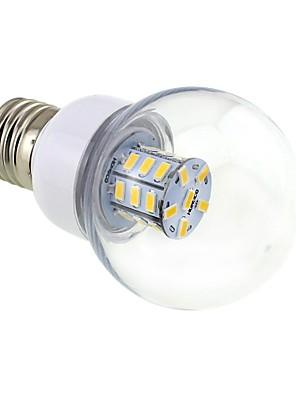 4W E26/E27 Круглые LED лампы G60 27 SMD 5730 500 lm Тёплый белый DC 12 / AC 12 / AC 24 / DC 24 V
