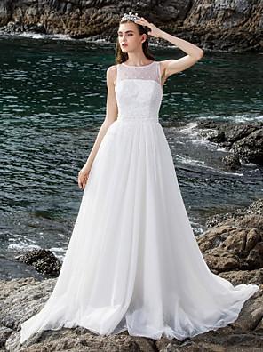 lanting 신부 볼 가운 몸집이 작은 / 플러스 사이즈 웨딩 드레스 층 길이 특종 얇은 명주 그물