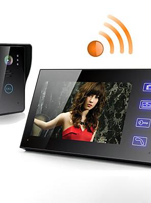 """Draadloze 7"""" videodeurtelefoon met aanraakscherm monitor"""
