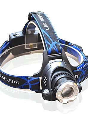 Iluminação Lanternas de Cabeça LED >200 Lumens 3 Modo Cree XM-L T6 18650.0 Foco Ajustável Multifunções Liga de Aluminio