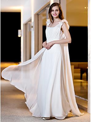 lanting는 몸집이 작은 A 라인 / 공주 신부 / 플러스 웨딩 드레스 바닥 길이 스트랩 조젯 크기
