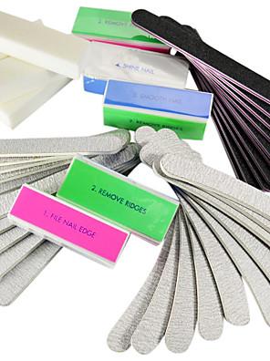 40PCS 5 típusai Nail Art fájlok és fúró blokkok (4 színben) Manikűr készlet Akril
