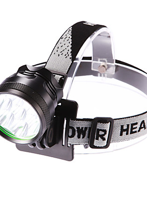 Iluminação Lanternas de Cabeça LED 5000 Lumens 3 Modo Cree XM-L T6 18650.0 Foco Ajustável / Prova-de-ÁguaCampismo / Escursão /