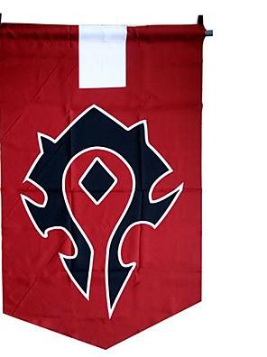 אביזרים נוספים קיבל השראה מ WOW קוספליי אנימה / משחקי וידאו אביזרי קוספליי דגל אדום Terylene זכר