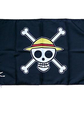 אביזרים נוספים קיבל השראה מ One Piece Monkey D. Luffy אנימה אביזרי קוספליי דגל שחור Terylene זכר