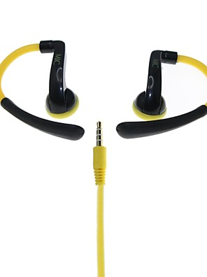Actrail IN-042 Hi-Fi Esporte Headphones-Branco Estéreo / Amarelo
