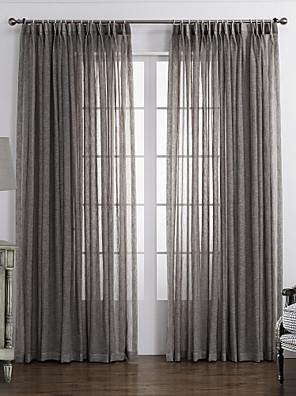 Et panel Vindue Behandling Rustik , Solid Soveværelse Materiale Sheer Gardiner Shades Hjem Dekoration For Vindue