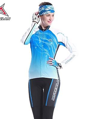MYSENLAN® Cyklodres a čapáky Dámské Dlouhé rukávy Jezdit na koleZahřívací / Rychleschnoucí / Odolný vůči UV záření / Propustnost vůči