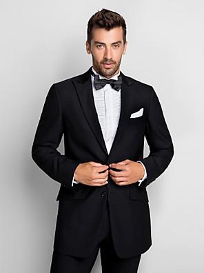 Black 100% vlna Standardní Fit Two-Piece Tuxedo