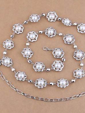 Women's Fashion Thin Pearl  Belt